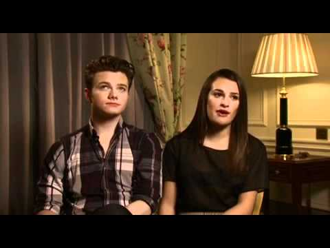 Chris Colfer and Lea Michele interview