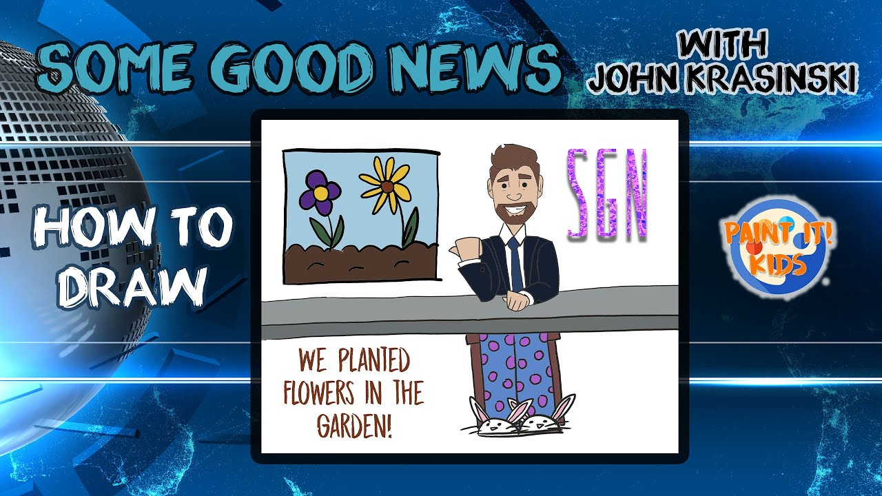 Drawing for Kids - How to draw John Krasinski from Some Good News @SomeGoodNews  - Art for Kids #SGN