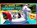 24 HOURS IN OUR SWIMMING POOL | We Are T