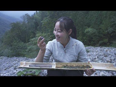 【山藥村老闆娘】板娘想吃烤山药,一次吃2大块,热乎的倍甜