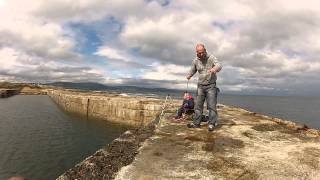 Pier fishing with my boys at Grannies Heilan Hame, Scotland