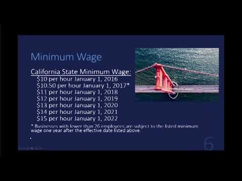 California state and local minimum wage and paid sick leave laws in 2017