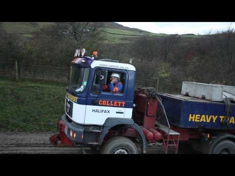 Collett Heavy transport MAN 6x6 at Hameldon hill windfarm .