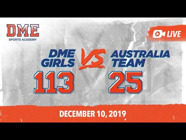 DME Girls vs Australia