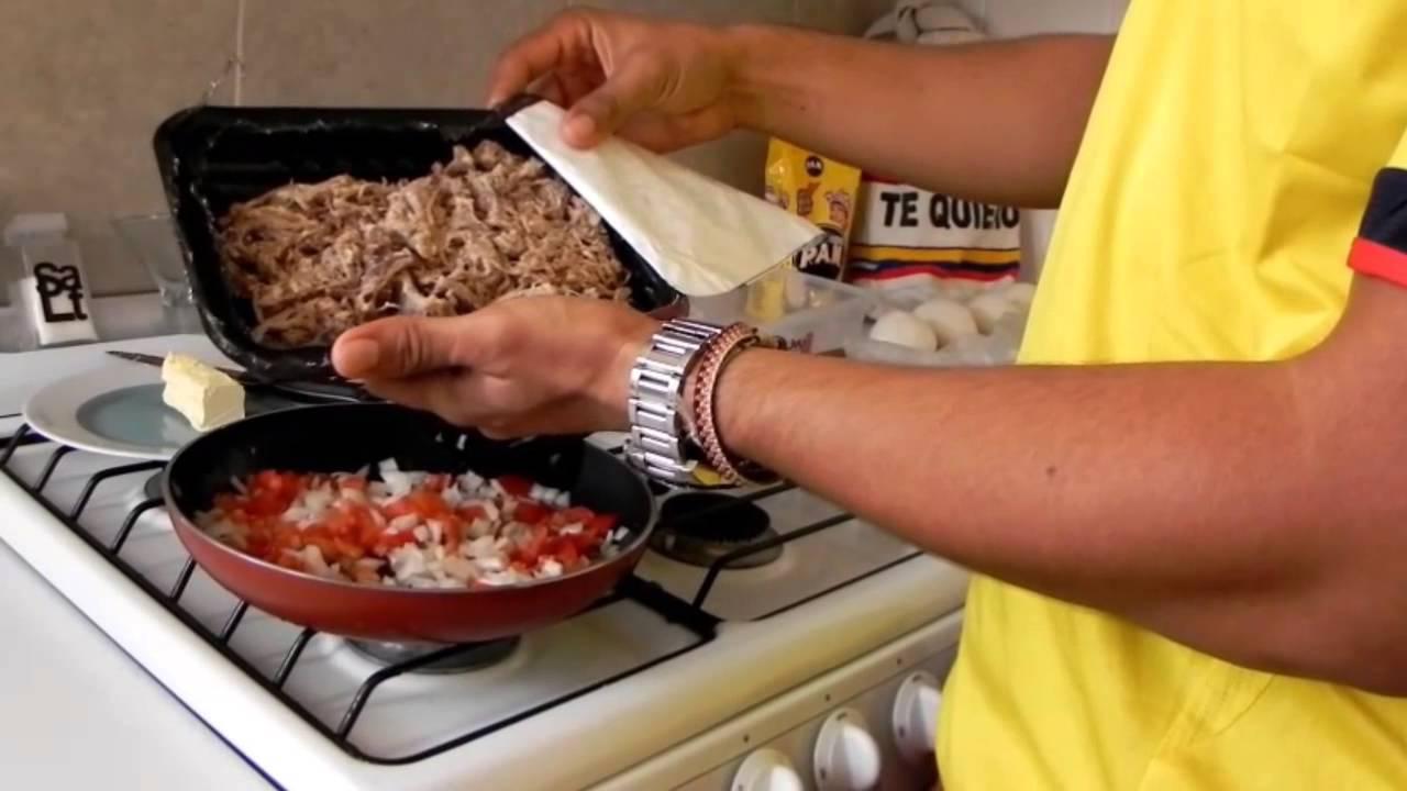 como preparar arepas rellenas de carne