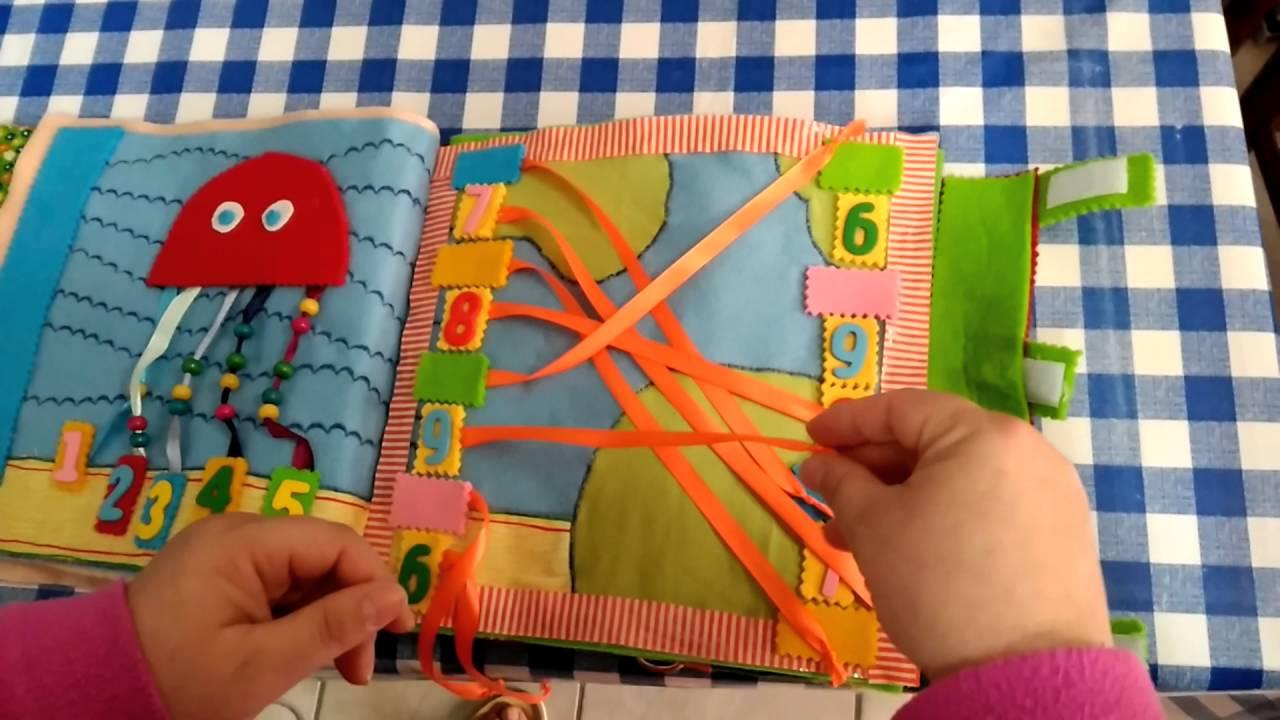 Molto Libri sensoriali in tessuto. Quiet book parte 1 - YouTube YK83