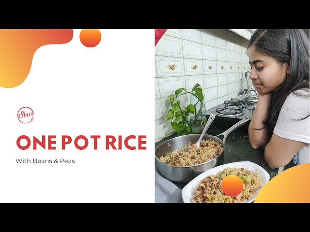 One Pot Rice With Beans & Peas | Easy Lockdown Recipe | Lockdown Recipes