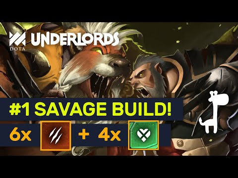 STRONGEST SAVAGE BUILD! Heartless Warlock Savages! | Dota Underlords