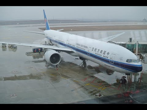 China Southern Airlines Boeing 777-300ER WUH-SFO Full Flight