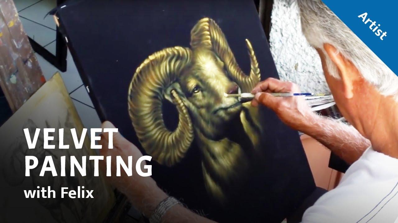 Cimarron Velvet Painting Youtube