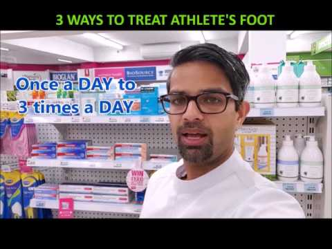 3 WAYS TO TREAT ATHLETE'S FOOT