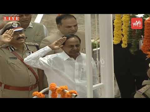CM KCR Flag Hoisting At Golconda Fort  | 73rd Independence Day 2019 | Telangana | YOYO TV  Channel