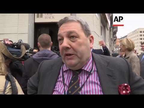 UKIP MEPs celebrate with cake in Brussels