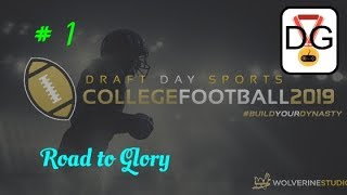 Draft Day College Football 2019 - Ep 1 - New Series RTG
