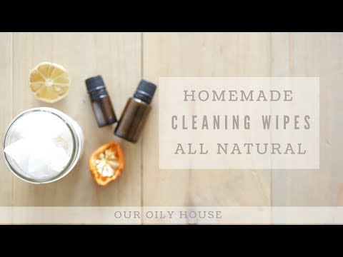 DIY Cleaning Wipes Made With Essential Oils