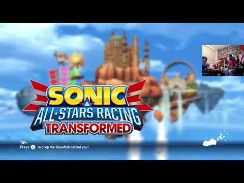 Games night - Sonic & all stars racing transformed  - Wii U multiplayer gameplay demo