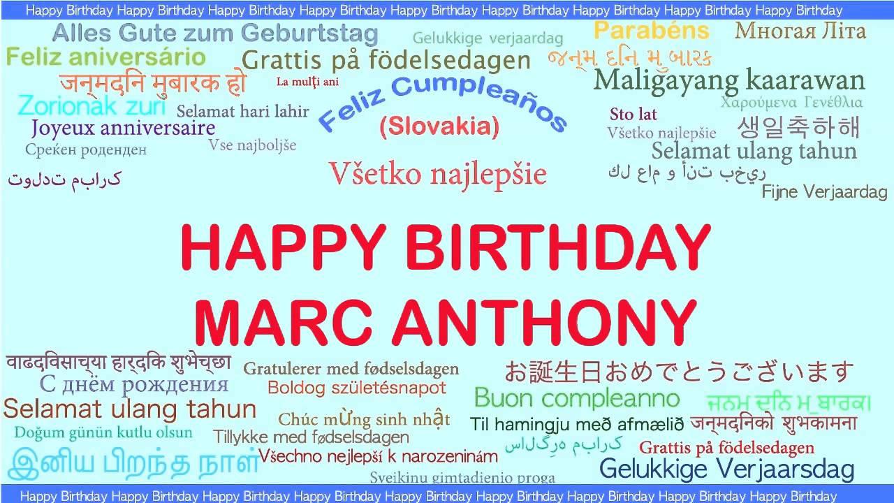 Marc Anthony Languages Idiomas Happy Birthday Youtube