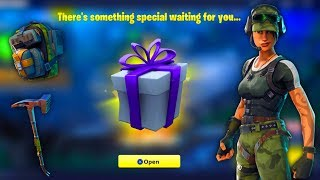 🔴FORTNITE SENT ME A GIFT! NEW SKIN, PICKAXE & EMOTE - 631 Wins/Level 46 Fortnite Battle Royale🔴