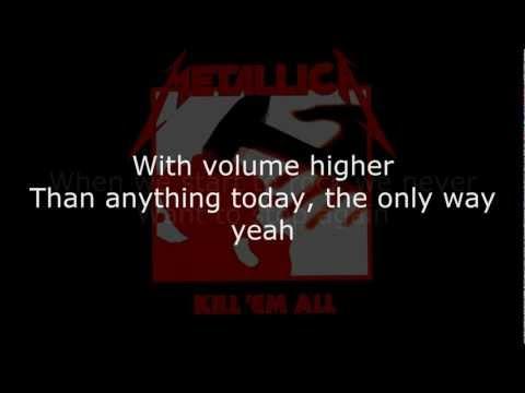 Metallica - Hit the Lights Lyrics (HD)