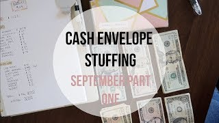 CASH ENVELOPE STUFFING | September Part 1 | Dave Ramsey Inspired Budgeting