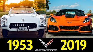Chevrolet Corvette - Эволюция (1953 - 2019) !  История модели !