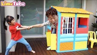 라임아빠랑 숨바꼭질 놀이 Hide and Seek & Finger Family Song Nursery Rhymes | LimeTube toy review