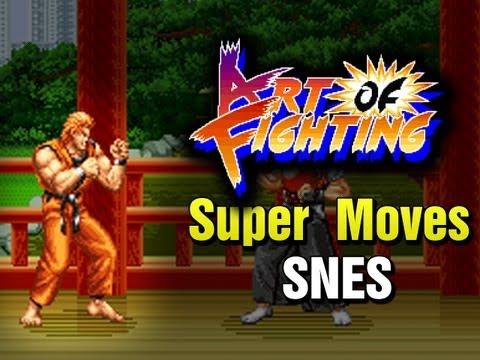 Art Of Fighting SNES - Super Moves AOF2 Ryuuko No Ken