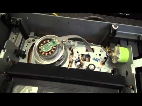 how a VHS tape & PLAYER HEADS works