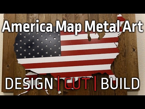 Design Cut Build | Episode 5 America Metal Art Piece