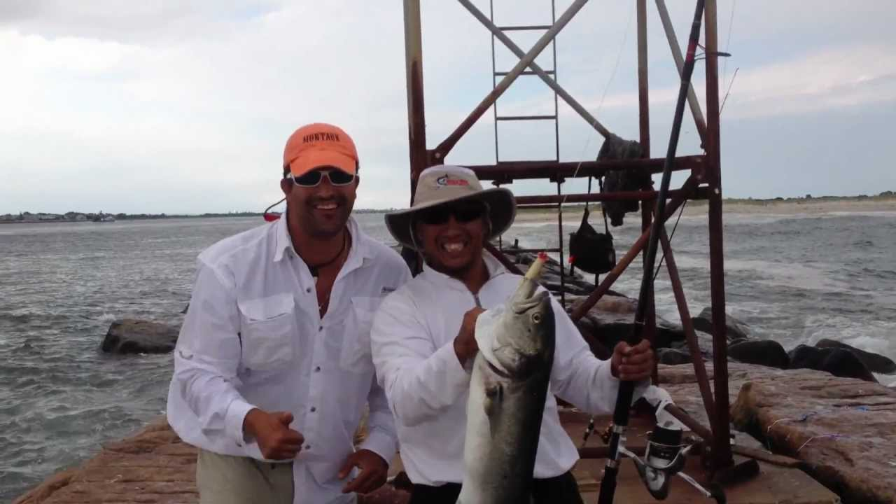 Monster blue fish at west end 2 jones beach ny youtube for Jones beach fishing