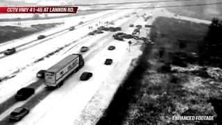 Enhanced Cctv Footage - 60 Car Pile Up On Hwy 41/45