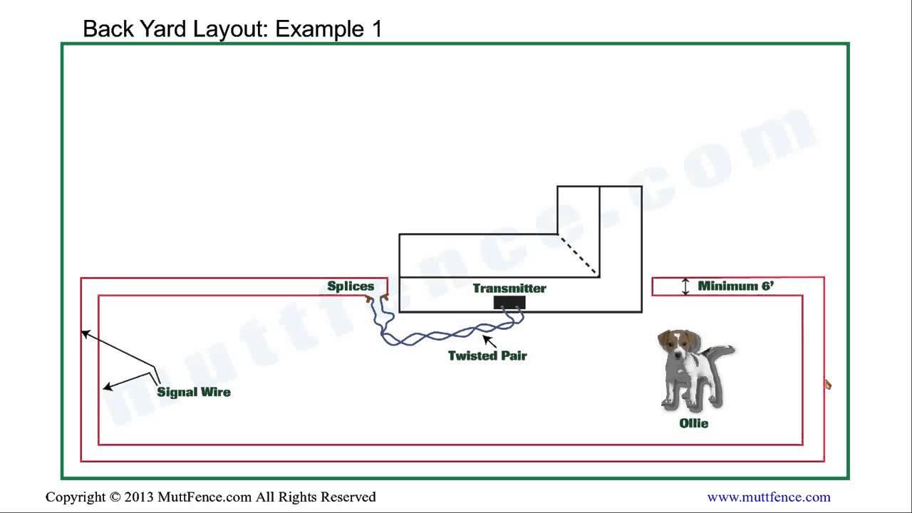 InGround Dog Fence Back Yard Installation  YouTube
