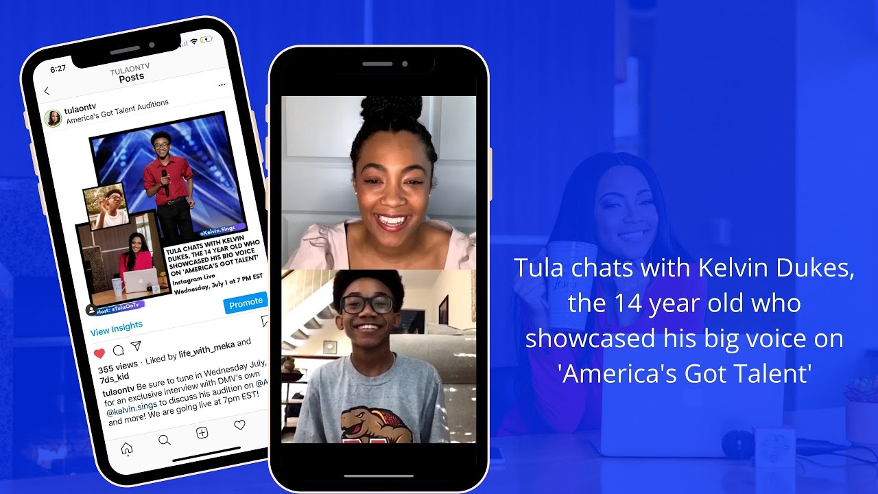 Tula chats with Kelvin Dukes, the 14 year old who showcased his big voice on 'America's Got Talent'