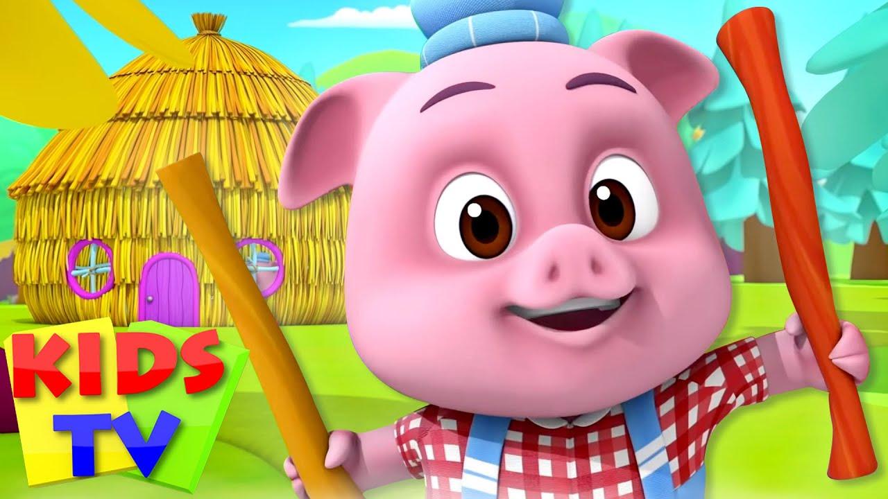 Story of Three Little Pigs | Cartoon Stories for Babies | Nursery Rhymes | Loco Nuts | Kids Tv Songs