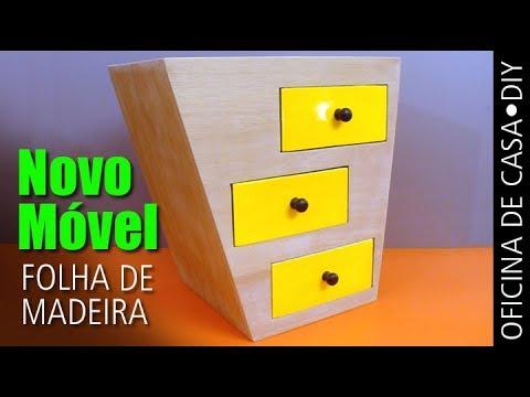 Móvel Novo - Folha de Madeira  #DIY #oficinadecasa