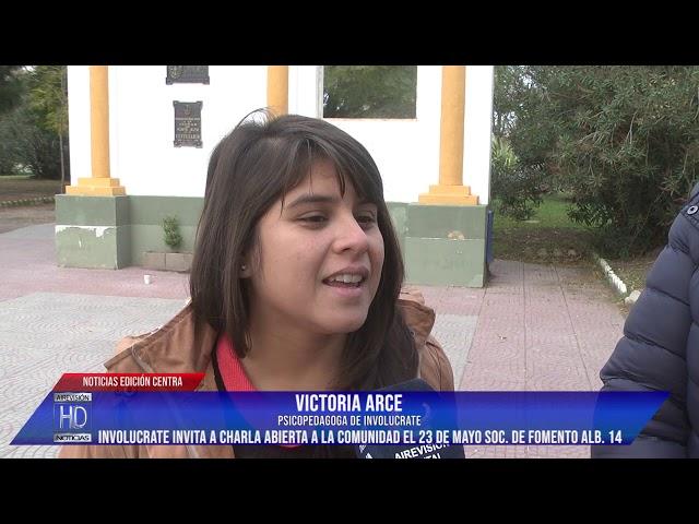 Asoc  civil Involucrate Punta Alta invita a charla abierta en la Soc de Fomento Alb  14