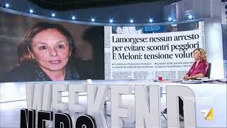 Weekend nero, Myrta Merlino introduce la puntata di oggi
