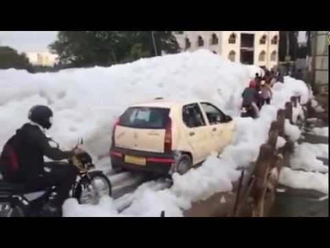 Foam Lake of Bengaluru | Bellandur Lake | Himalaya Effect
