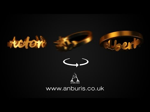 Eternity; your unique name ring by Anburis