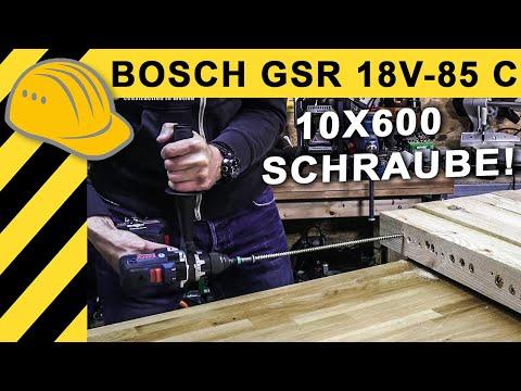 GRÖSSTER BOSCH 18V AKKUSCHRAUBER! TEST BOSCH GSR 18V-85 C | EXTREMTEST MIT SPAX 10x600!