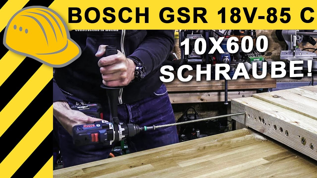 gr sster bosch 18v akkuschrauber test bosch gsr 18v 85 c extremtest mit spax 10x600 youtube. Black Bedroom Furniture Sets. Home Design Ideas