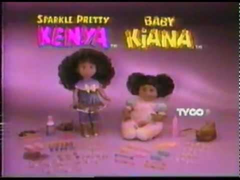 Kenya & Baby Kiana baby doll commercial 1994