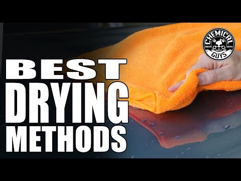 Best Car Drying Tools: Towels / Chamois / Blades / Blowers - Chemical Guys