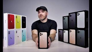 Злий чоловік витратив 15 000$ особистих доларів розпаковує всі 11-е Iphone'ов и (Unbox Therapy Ru)