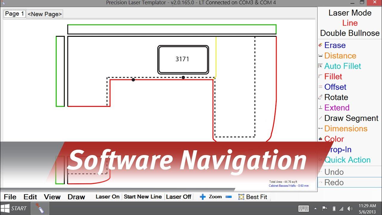 Laser Templator - Navigating the software - YouTube