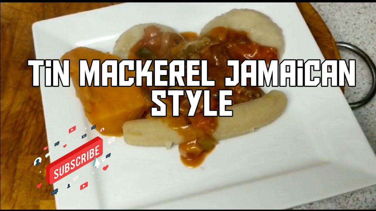 how to cook tin mackerel and flour dumpling jamaican style