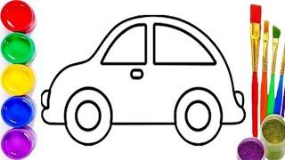 Bolalar uchun mashina rasm chizish   Рисуем машинку для детей   Drawing a car for kids