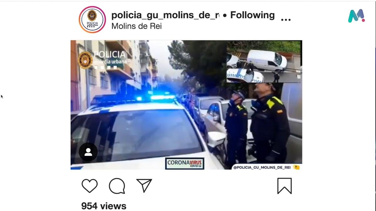 La Policia local de Molins visita infants que fan anys dins d'aquest marc pel covid-19
