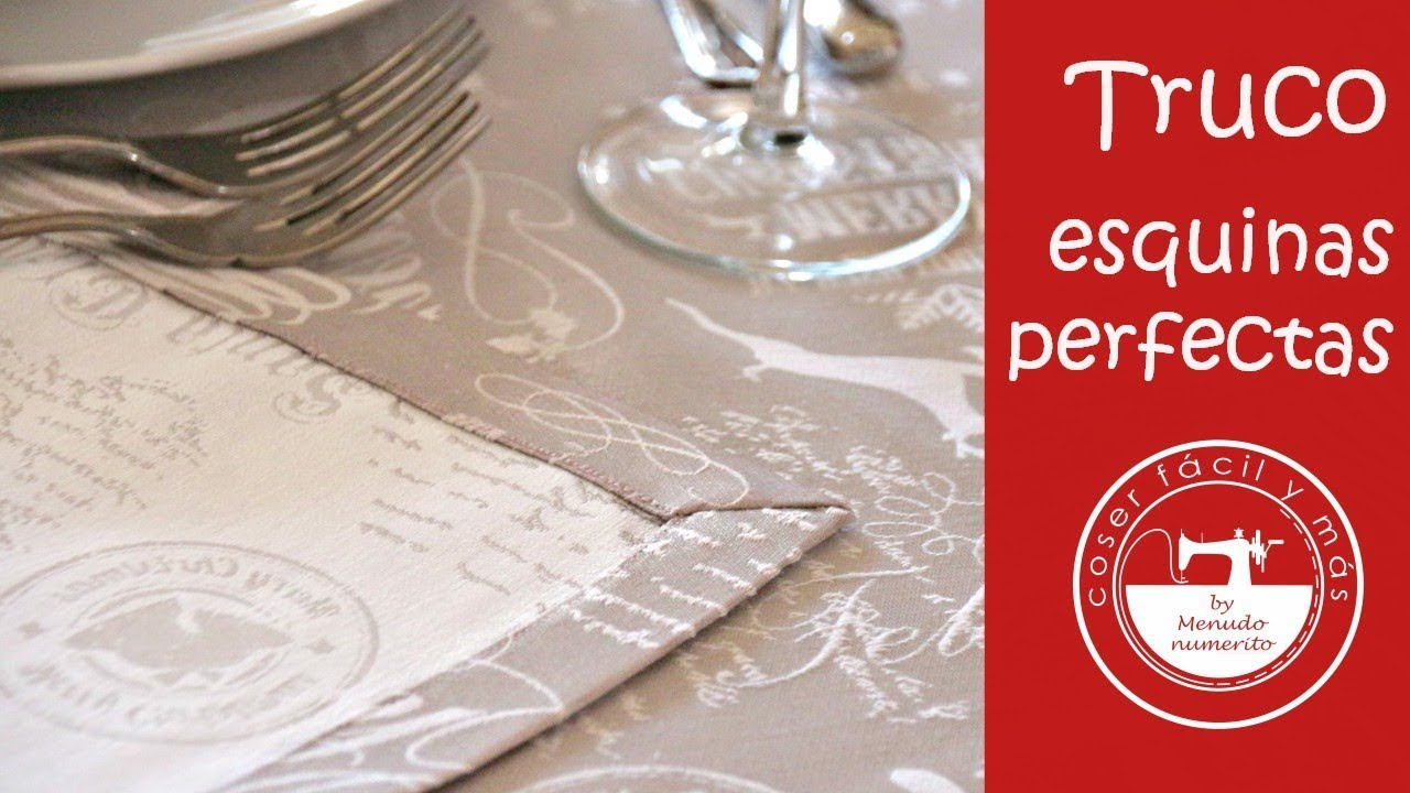Esquinas perfectas en manteles, servilletas, caminos de mesa... - YouTube