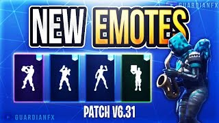 Fortnite - ALL LEAKED EMOTES in PATCH v6.31! [Phone It In, Mime Time, Showstopper, Scorecard]